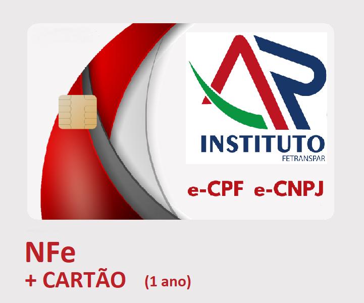 NFe A3 EM CARTÃO INTELIGENTE (VALIDADE DE 01 ANO)