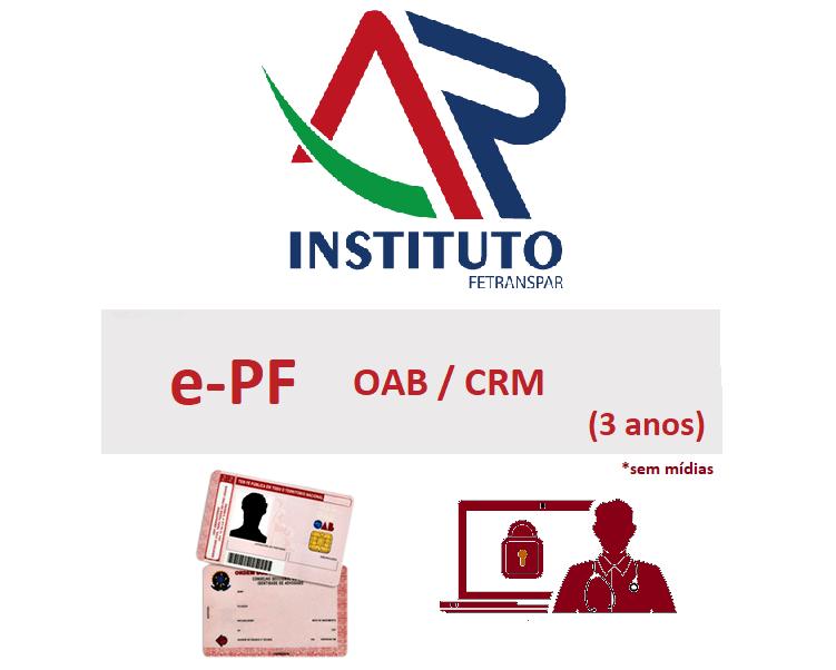 E-PF OAB-CRM 3 anos em Cartão