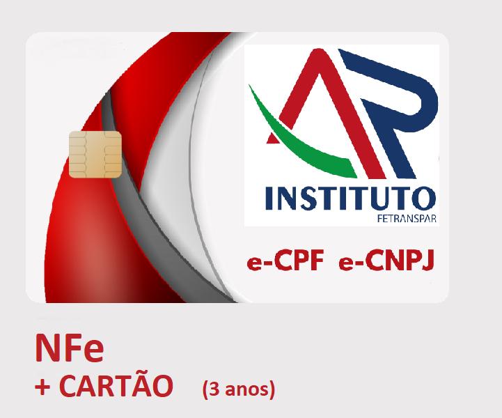 NFe A3 EM CARTÃO INTELIGENTE (VALIDADE DE 03 ANOS)