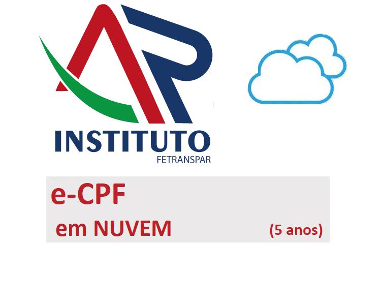 PRONUVEM E-CPF A3 (5 ANOS)